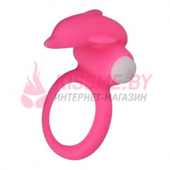 Виброкольцо X-Basic Dolphin Silicone Cockring розовое